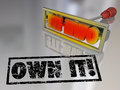 Own it branding iron ownership claim responsibility the words on a to illustrate the concept of and claiming Stock Photos