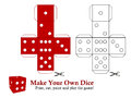 Own dice make your print cut paint and play the game Royalty Free Stock Photo