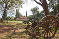 Ox Cart and Karen Blixen's house, Kenya. Royalty Free Stock Images