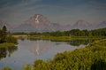 Oxbow bend at at grand teton national park Royalty Free Stock Image