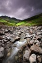 Oxendale beck to bowfell lake district Stock Photography