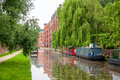 Oxford canal england narrowboats on the at oxfordshire uk Royalty Free Stock Photos