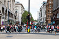 The Oxford Circus crossing in London Royalty Free Stock Photos