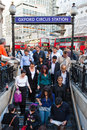 Oxford circus tube station people at the in london england Royalty Free Stock Photography