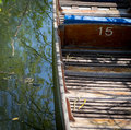 Oxford Punt With Blue Seats River Cherwell Royalty Free Stock Photo