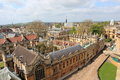 Oxford seen from the st mary church england Royalty Free Stock Photography