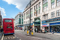 Oxford street in london uk united kingdom it s major road city of westminster and europe s busiest shopping Stock Photography