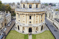 OXFORD/ UK- OCTOBER 26 2016: Elevated View Of Radcliffe Camera Building In Oxford Royalty Free Stock Photo