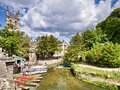 Oxford, UK, River Cherwell and Punts Royalty Free Stock Photo