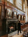 stock image of  Oxford, United Kingdom: Photograph of the great fireplace