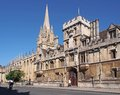 Oxford university all souls college high street Stock Images