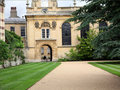 Oxford University Courtyard Royalty Free Stock Photography