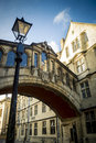 Oxford university the famous bridge of sighs connecting hertford college and new college lane in Stock Photography