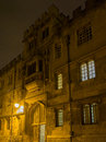 Oxford university at night united kingdom Royalty Free Stock Photos