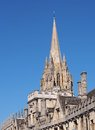 Oxford university st mary s church steeple Royalty Free Stock Photo