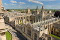 Oxford view from Saint Mary Royalty Free Stock Photography