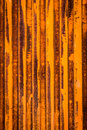 Oxidation texture of a oxidized and rust metal door Stock Image