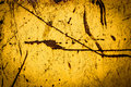 Oxidation texture of a oxidized and rust yellow surface Stock Images
