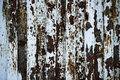 Oxide a painted old door with making pattern Royalty Free Stock Photos