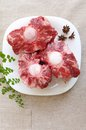 Oxtail raw Royalty Free Stock Photo
