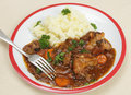 Oxtail stew dinner with fork Royalty Free Stock Images