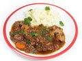 Oxtail stew dinner over white Royalty Free Stock Images
