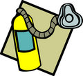 Oxygen tank and mask vector illustration Stock Images