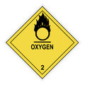 Oxygen Warning Label Stock Photos