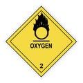 Oxygen Warning Label Royalty Free Stock Photo
