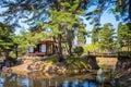 Oyakuen medicinal herb garden in Aizuwakamatsu, Fukushima, Japan Royalty Free Stock Photo