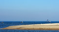 Oyster-farming in Arcachon bay Royalty Free Stock Photo