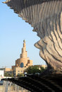Oyster and minaret in Qatar Royalty Free Stock Photo