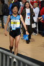 Ozaki Akemi of Japan Marathon Winner Royalty Free Stock Photo