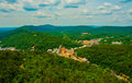 Ozark mountains surrounding hot springs arkansas city cut in forests overlook look out tower northern to central is right the Stock Photo