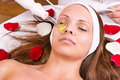 Ozone treatment on face at the beautician Stock Photos