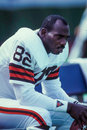 Ozzie newsome cleveland browns former tight end image taken from color slide Stock Photos