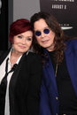 Ozzy osbourne sharon osbourne and at the total recall los angeles premiere chinese theater hollywood ca Royalty Free Stock Image