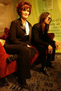 Ozzy and Sharon Osbourne Wax Figure Royalty Free Stock Photos