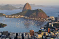 Pão de açúcar sugarloaf rio de janeiro evening view of s famous landmark located in brazil Royalty Free Stock Photo