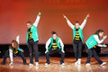 P.L.U.R. team dance at Hip Hop International cup Royalty Free Stock Photography