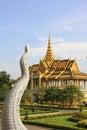 Pałac penh phnom królewski Obraz Stock
