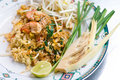 Paad Thai, NativeThai style of fried noodle Royalty Free Stock Photo