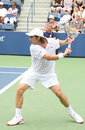 Pablo Cuevas Backhand at the 2008 US Open Stock Image
