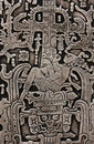 Pacal the Great of Palenque stone carve Royalty Free Stock Photo