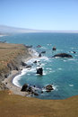 Pacific coast sonoma county california the ocean coastline turns rocky and dramatic in s Stock Photos