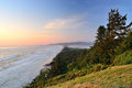 The pacific coast usa oregon sunset on cape lookout state park Royalty Free Stock Images