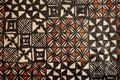 Pacific Islands: tapa cloth geometric designs Royalty Free Stock Photo