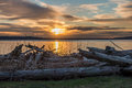 Pacific Northwest Sunset Royalty Free Stock Photo