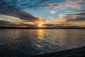 Pacific Northwest Sunset 4 Royalty Free Stock Photo
