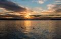 Pacific Northwest Sunset 5 Royalty Free Stock Photo